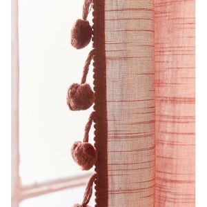 Urban Outfitters Other - UO Rust color curtain with pom poms